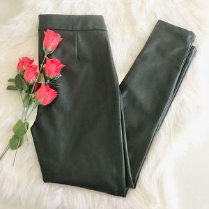 Ann Taylor Faux Leather Pants 2P